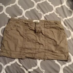 Army green, khaki, Old Navy skirt